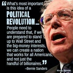 You don't change anything by voting for the same two families over and over again #JustSayin #FeelTheBern @SenSanders