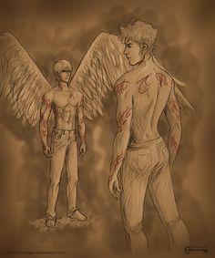The Mortal Instruments: Jonathan and Jace by mseregon.deviantart.com on @deviantART Sebastian and Jace