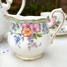 Beautiful Royal Albert English Fine Bone China Creamer Jug - Delicate Floral Design - Hartington