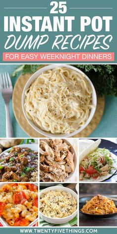 25 Delicious Instant Pot Dump Dinners for Easy Weeknight Meals Dump and push start Instant Pot dinner recipes are as easy as it gets so you can take it easy after a long day. Let your instant pot do the cooking so you can spend time with your family! Best Instant Pot Recipe, Instant Pot Dinner Recipes, Instant Recipes, Recipes Dinner, Instant Pot Meals, Dessert Recipes, Dinner Ideas, Egg Recipes, Desserts