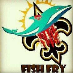 Geaux Saints beat the Dolphins.