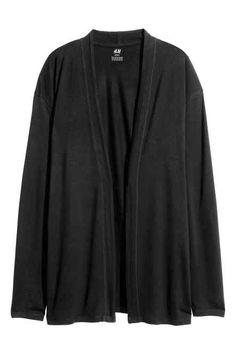 Jersey cardigan