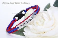 Indivisible bracelet wristband, When they go low we go high, custom Political Bracelet, United we stand by PearlTwinkle on Etsy
