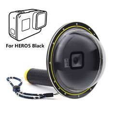 SOONSUN 6 inch Dome Port for GoPro Hero 5 HERO5 Black with Transparent Lens  Cover and cc47ffd874