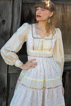 Remember Gunne Sax?   Vintage 70's GUNNE SAX Dress Prairie Girl (XS)