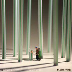 ". 11.25 tue ""Bamboo forest"" . ストローから生まれた""スト郎"" . . #かぐや姫 #竹取物語"