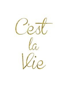 C'est La Vie! #gold #cest #la #vie #cestlavie#poster #motivational #quote #inspirational #quotes #ideas #inspiration #posters #motivation #babydiary