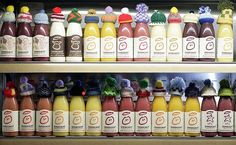 Innocent Smoothies Winter Woolies-   Every winter innocent raise money for charities that help elderly people by people to knitt lots of little woolly hats and putting them on our smoothie bottles. For each behatted bottle sold, 25p is donated to the chosen charity Age Concern.