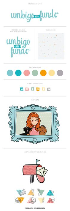ilustração personalizada para blogs, desenho fofo, ilustração Renata Fukuda, blog Umbigo sem Fundo, ilustração para blog de moda, ilustradora Kênia Lopes