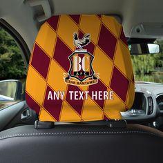 Bradford City FC Official Personalised Retro 1991 Car Head Rest Cover for sale online Bradford City, Car Head, Red Gloves, Hub Caps, Car Mats, Wheel Cover, Stocking Fillers, Ford Focus, Spandex Fabric