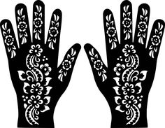 52 Best Henna Stencils Images Embroidery Pointillism Embroidery