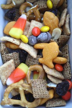 Harvest Snack Mix (scroll down in the post)  We could do chocolate graham fish…