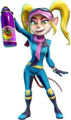 Video Game Characters, Girls Characters, Crash Bandicoot Characters, Pink Helmet, Cloverfield 2, Crash Team Racing, Spyro The Dragon, Western Girl, Games