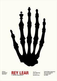 King Lear poster by Isidro Ferrer Poster Ads, Typography Poster, Design Poster, Design Art, Graphic Design Illustration, Graphic Art, Poema Visual, Silkscreen, Visual Metaphor