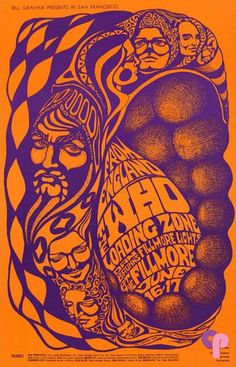 Awesome Psychedelic Concert Posters from the 1960s - Matterdome / Bonnie McLean created this poster for a Who appearance at the Fillmore in 1967