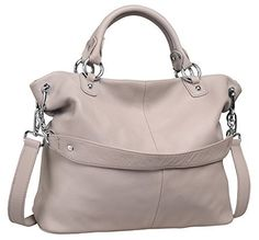 Heshe® Fashion Hot Sell Women's Soft Collection Top-handle Handbag Cross Body Shoulder Bag Satchel Tote Messenger Purse (Light Grey-h) - http://leather-handbags-shop.com/heshe-fashion-hot-sell-womens-soft-collection-top-handle-handbag-cross-body-shoulder-bag-satchel-tote-messenger-purse-light-grey-h/