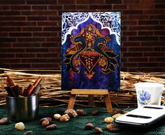 Funky mini easel royal retreat canvas #painting  #canvaspainting