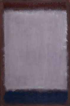 Mark Rothko: Lavender and Mulberry, 1959 - Oil on paper mounted on fiberboard