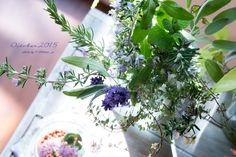道のりを記憶に残して: 庭のハーブいろいろを摘んで、ブーケから窓辺へと(ラベンダー、ローズマリー、カラミンサ、レモンバーム、セージ…)/花・ガーデニング