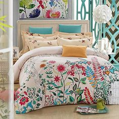 BL Bedding Set, 100% Cotton King Size Bedding Sets, 4PCS with Duvet Cover, Bed Sheet, 2PCS Pillow Case (Comforter Not Included) //Price: $65.28 & FREE Shipping //     #bedding sets