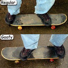 Clever Tips and Tricks for the Novice Skateboarder: Step 3 - Skateboard Stance:  Goofy vs. Regular