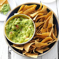 Catherine's Guacamole Recipe -Get the scoop on making a standout guacamole. A handful of chopped celery adds some fun crunch in this avocado dip—everyone's favorite fiesta starter. —Catherine Cassidy, Milwaukee, Wisconsin - leave out celery Dip Recipes, Mexican Food Recipes, Appetizer Recipes, Snack Recipes, Cooking Recipes, Healthy Recipes, Ethnic Recipes, Appetizers, Avocado Dip