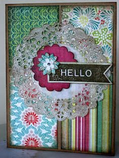 Handmade greeting cards..or a good way to greet people coming into you home..an old window frame and frabrics with the colors of your house!!!
