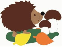 This is a nice autumn craft idea. This hedgehog is a pretty autumn window decoration which is easy to make. Diy And Crafts, Crafts For Kids, Paper Crafts, Iris Folding Templates, Fall Door, Autumn Crafts, Fall Is Here, Autumn Activities, Woodland Creatures