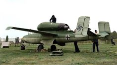 Heinkel He 162A-1 Volksjäger in Hyde Park, London, Sept 1945.