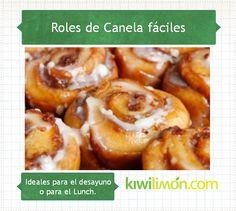 Tu podrías estas saboreando estos ricos Rollos de Canela en minutos, anímate a prepararlos con esta receta.