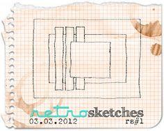 Each Saturday Retro Sketches has a new CAS layout sketch Challenge
