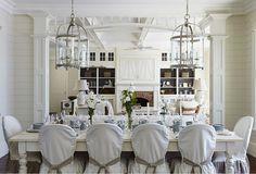 I am loving this Coastal Dining Room #diningroom