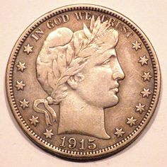 1915 Barber Half Dollar 50c Choice XF Coin with Full Liberty