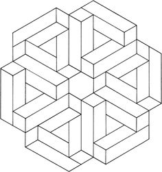 Optical Illusion 12 coloring page from Optical illusions category. Select from 20946 printable crafts of cartoons, nature, animals, Bible and many more.