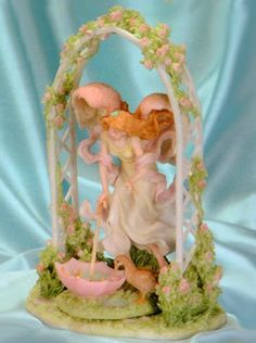 """Seraphim Classics Heaven on Earth 2003 Collector's Club """"Allison"""" Every Cloud Has A Silver Lining with the Garden Arch Trellis by Roman, http://www.amazon.com/dp/B00BZEXM3C/ref=cm_sw_r_pi_dp_MPtIsb0K0D6G7"""