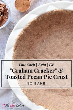 Low Carb Pie Crust, Baked Pie Crust, Pie Crust Recipes, Pecan Pie Crust Recipe Easy, Pie Crusts, Desserts Keto, Dessert Recipes, Health Desserts, Fruit Recipes