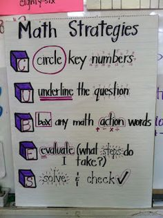 Timeouts and Tootsie Rolls: Test Prep strategies I like this one, because it doesn't emphasize the old key word strategy, which in today's standardized testing language might not always work Anchor Charts,Classro Math Strategies, Math Resources, Test Taking Strategies, Leadership Activities, Group Activities, Maths 3e, Material Didático, Math Anchor Charts, Math Charts