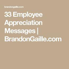 33 Employee Appreciation Messages   BrandonGaille.com