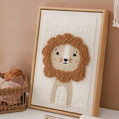 Little lion punch needle kits with frame, DIY embroidery kit, punch needle kit with yarn, punch needle pattern, rug hooking design kitIf you're a craft enthusiast, this punch needle kit will be perfect for you. You can also give it to your friends, both for beginners and professionals. Or you can complete it with your children to improve your relationship.It's very easy to learn, and you can complete the embroidery by constantly poking, just follow our pattern to create beautiful designs… Rug Hooking Kits, Rug Hooking Designs, Punch Needle Kits, Punch Needle Patterns, Diy Embroidery Kit, Creative Embroidery, Macrame Design, Diy Frame, Pattern Art