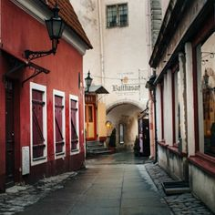 Saiakang street in Old Town of Tallinn in Estonia. Photo by Dmitri Korobtsov.