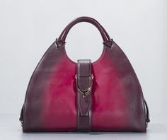 Gucci Red Gradient Ombre Leather Stirrup Hobo Bag Ltd Ed