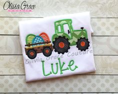 Hey, I found this really awesome Etsy listing at https://www.etsy.com/listing/220289698/boys-easter-shirt-easter-egg-tractor