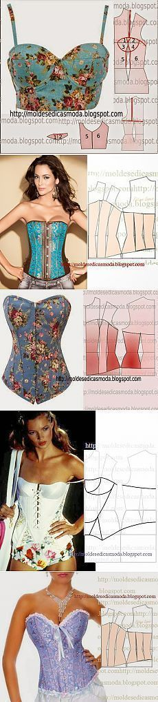Sewing For Beginners – Get Started With These Tips Motif Corset, Corset Pattern, Dress Sewing Patterns, Clothing Patterns, Skirt Patterns, Coat Patterns, Blouse Patterns, Pattern Sewing, Diy Clothing