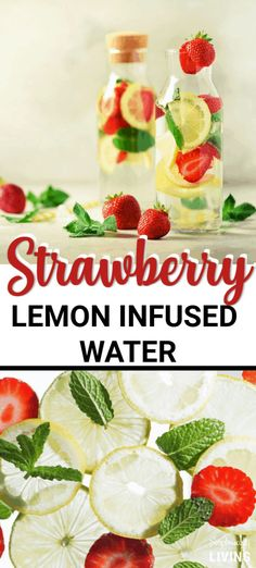Strawberry Lemon Infused Water Recipe - a delicious fruit infused water recipe to keep your water from being boring. Strawberry Lemon Infused Water Recipe - a delicious fruit infused water recipe to keep your water from being boring. Flavored Water Recipes, Detox Juice Recipes, Juice Cleanse, Body Cleanse, Cleanse Recipes, Flavored Waters, Infused Waters, Smoothie Recipes, Juicer Recipes