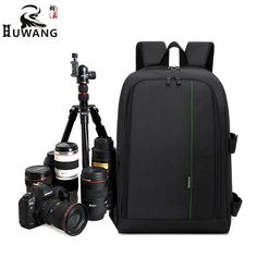 "Cheapest prices US $33.25  HUWANG Upgrade Waterproof DSLR Photo Padded Backpack w/ Rain Cover for 15.6"" Laptop Multi-functional Camera Soft Bag Video Case  #HUWANG #Upgrade #Waterproof #DSLR #Photo #Padded #Backpack #Rain #Cover #Laptop #Multifunctional #Camera #Soft #Video #Case  #Internet"