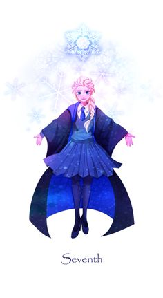 Elsa at Hogwarts Year 7 Haven't read the HP series but these are cool.