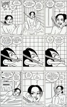 Original one-page Hopey strip by Jaime Hernandez from Penny Century #1, published by Fantagraphics, December 1997.