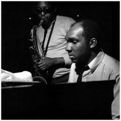HANK MOBLEY (TENOR SAX), HAROLD MABERN JR. (PIANO) During Mobley's Dippin  Session  June- 1965 - Photo by Francis Wolff.