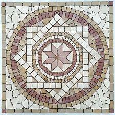 Marmor Rosone PARMA2 60x60 cm Mosaik Naturstein Fliesen Motiv Bild rosso beige