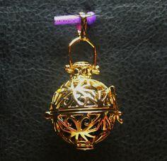 Engelsrufer Harmony Ball Klangkugel 925 silber,24 Karat (999er) vergoldet,Sterne